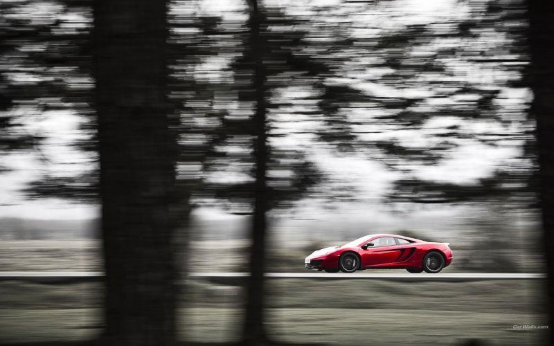 cars red cars McLaren MP4-12C wallpaper