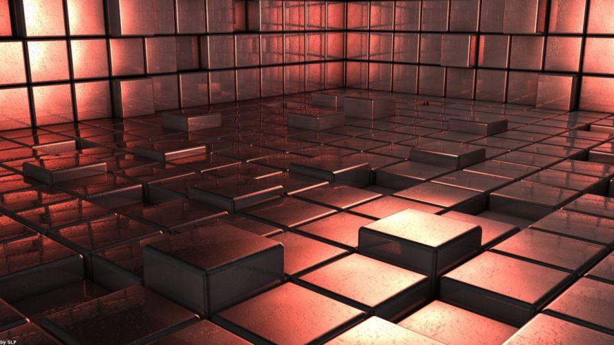 digital cubes wallpaper