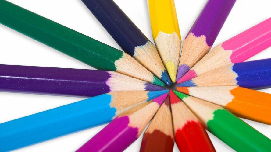 colored pencils wallpaper