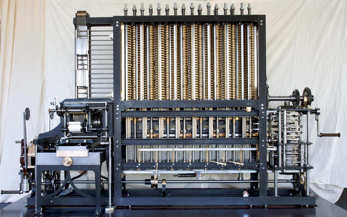 computers history Marcin Wichary Difference Engine wallpaper