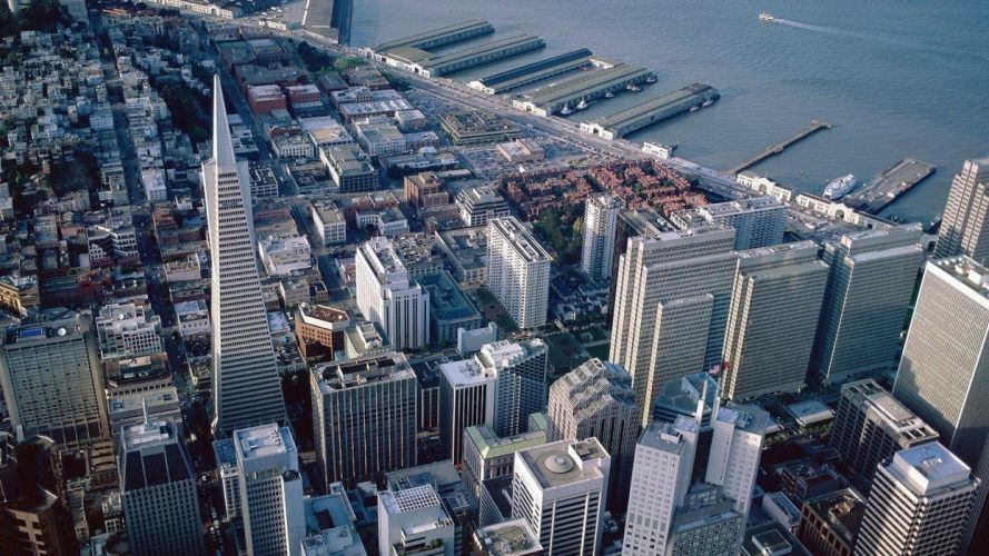 landscapes cityscapes architecture towns San Francisco skyscrapers land wallpaper
