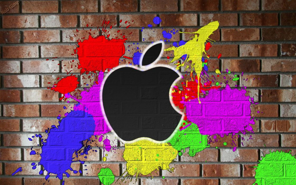 multicolor wall Apple Inc_ wallpaper