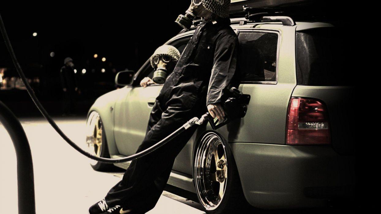 S_T_A_L_K_E_R_ cosplay gas masks vehicles fueling cranks the machine Dub Korp wallpaper