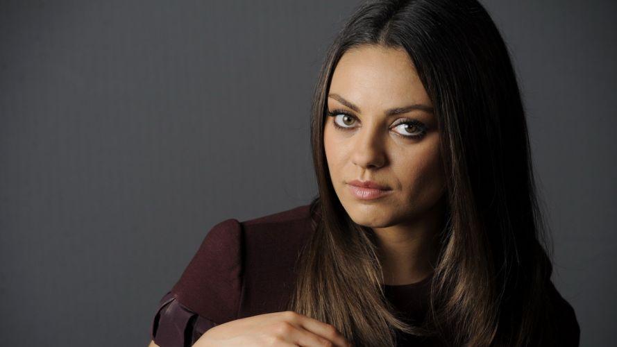 women Mila Kunis models wallpaper