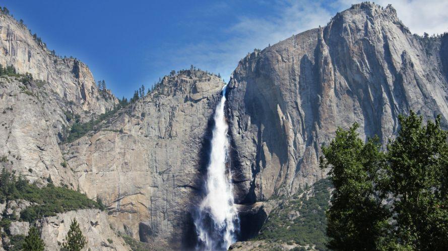 nature waterfalls falling water wallpaper