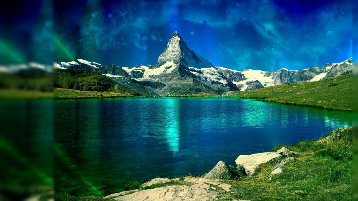 landscapes digital art wallpaper