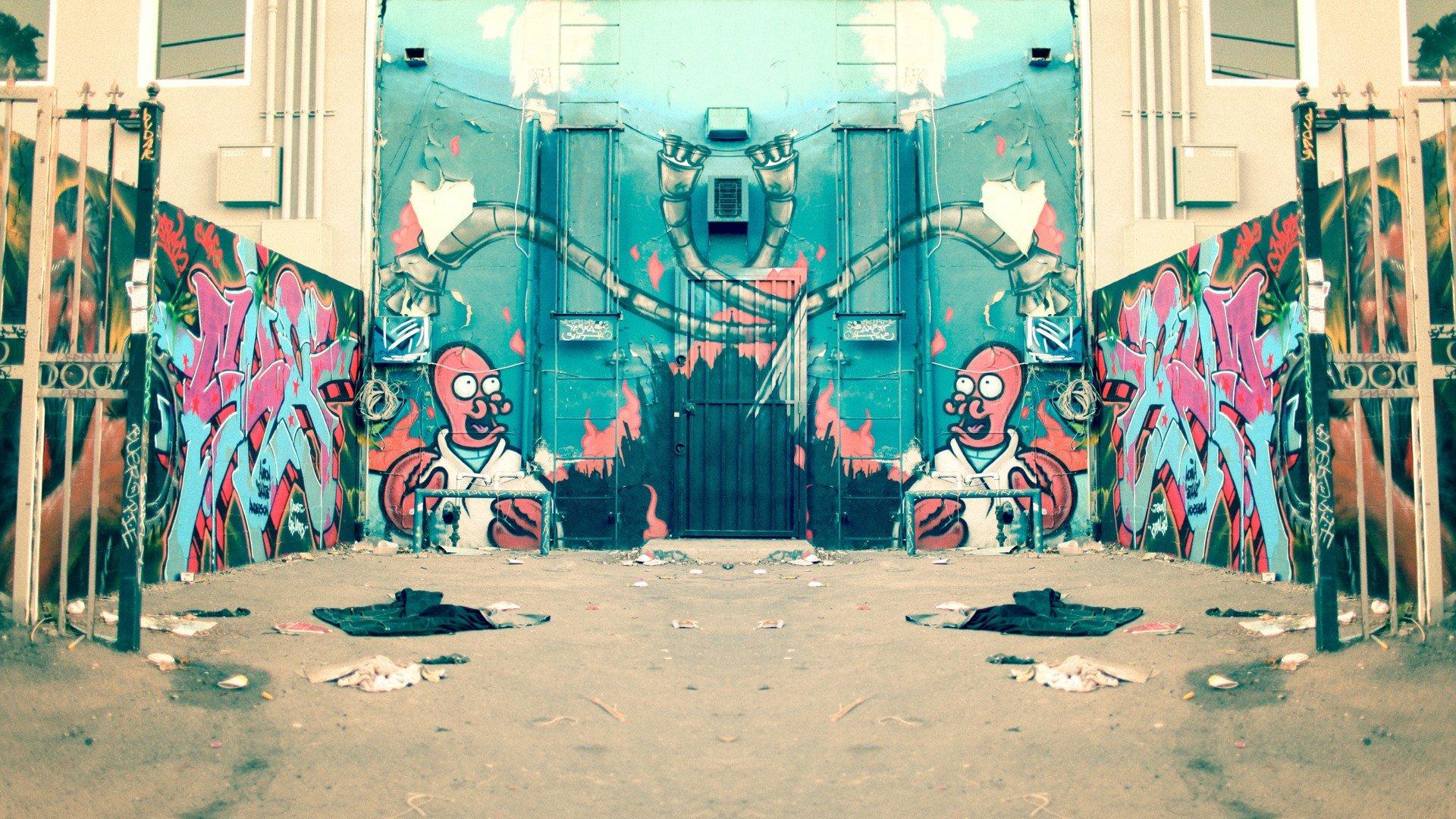 Futurama Bender Mirrors Graffiti Dr Zoidberg Street Art