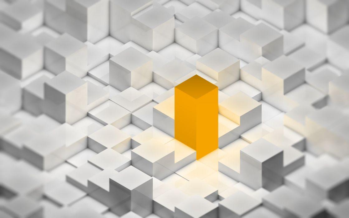 orange cubes wallpaper