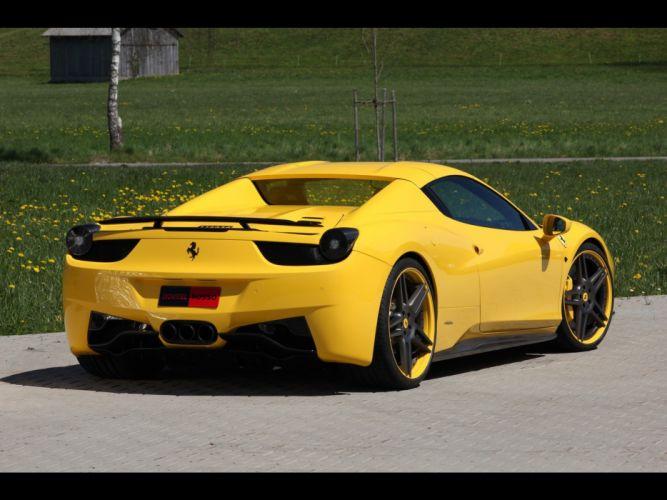 Ferrari Italian supercars static Novitec Rosso yellow cars Ferrari 458 wallpaper