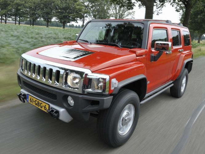cars orange vehicles Hummer wallpaper