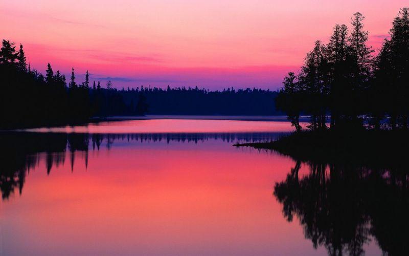 sunrise landscapes nature Canada wallpaper
