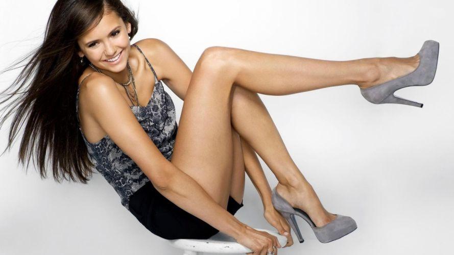 brunettes women actress Nina Dobrev wallpaper