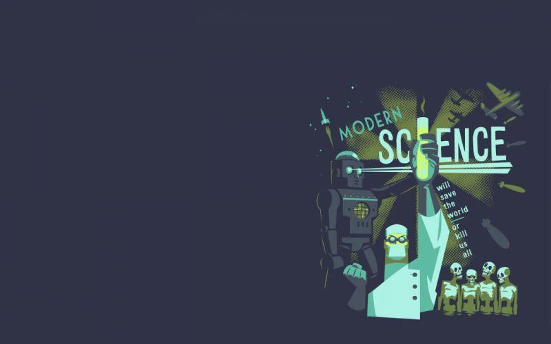 science minimalistic robots scientists modern wallpaper