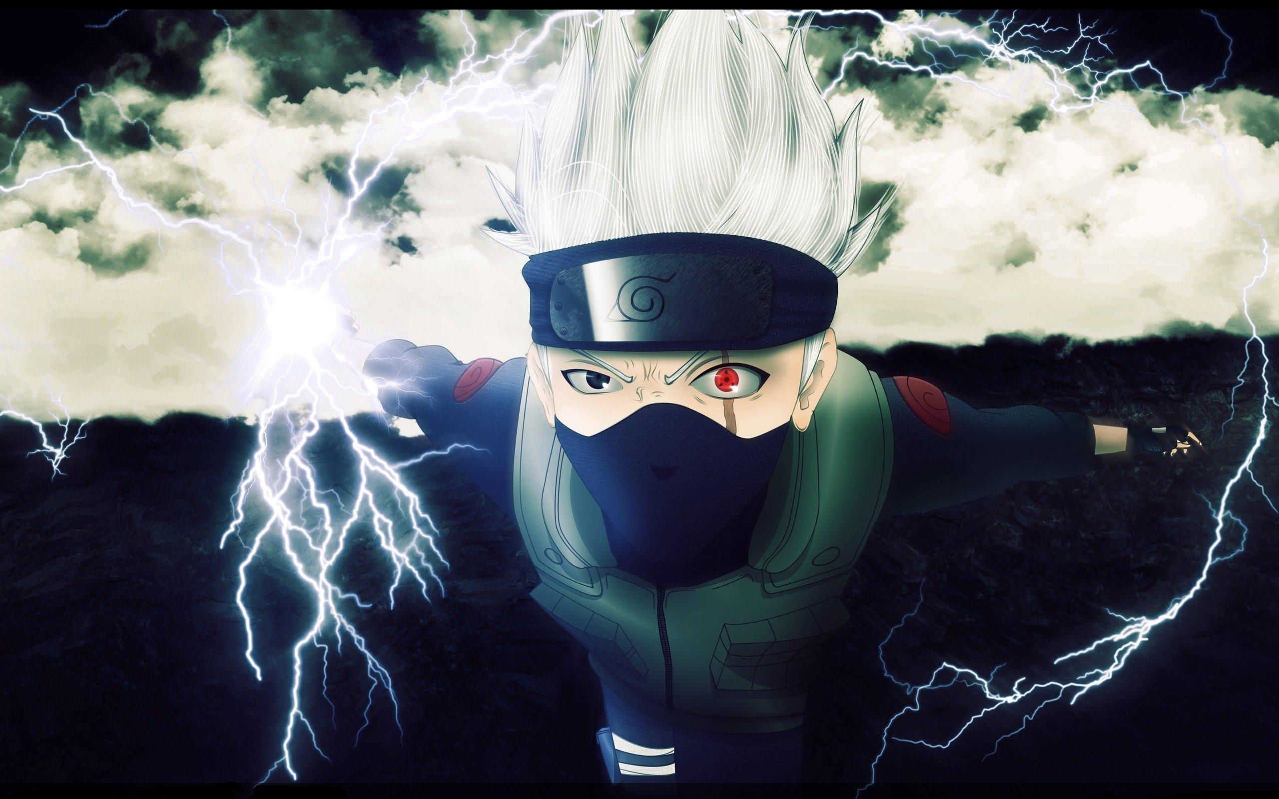 Naruto: Shippuden Sharingan anime Kakashi Hatake chidori wallpaper