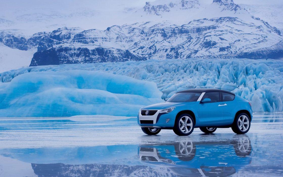 ice cars glacier  Volkswagen wallpaper