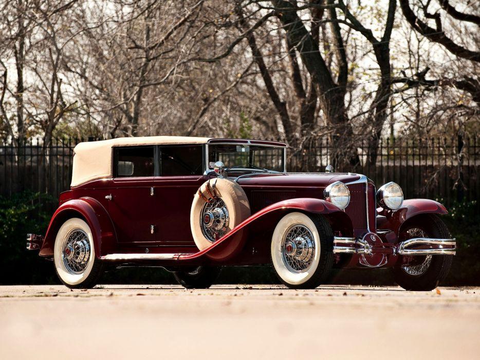 1929-32 Cord L-29 Phaeton Sedan luxury retro      f wallpaper