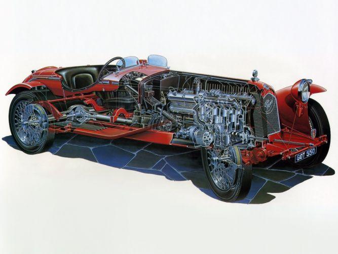 1931-33 Alfa Romeo 8-C 2300 Monza retro race racing interior engine f wallpaper