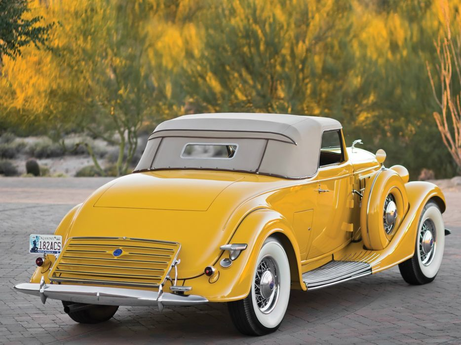 1935 Lincoln Model-K Convertible Roadster LeBaron (542) luxury retro   g wallpaper
