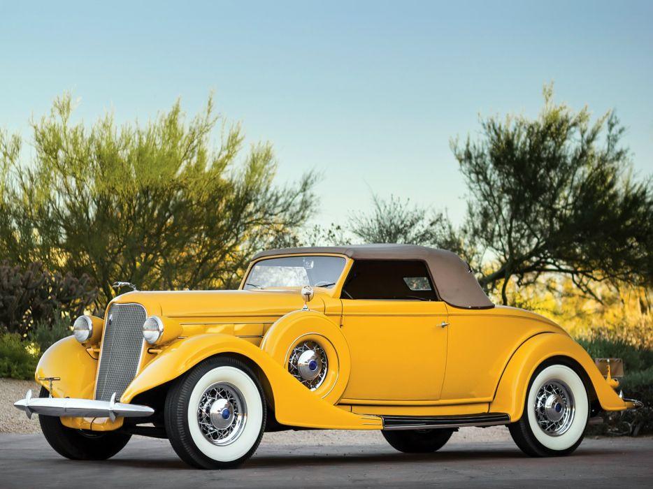 1935 Lincoln Model-K Convertible Roadster LeBaron (542) luxury retro  g wallpaper