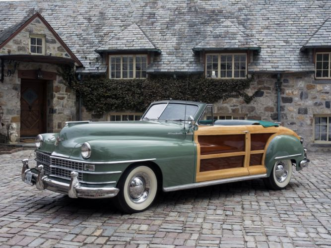 1948 Chrysler Town Country Convertible retro f wallpaper
