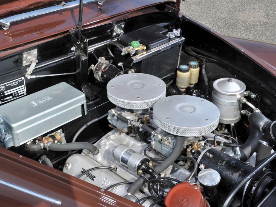 1959 BMW 502 Cabrio Autenrieth retro engine     h wallpaper
