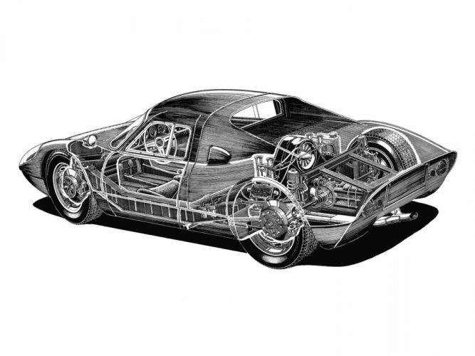 1963 Porsche 904 Carrera GTS supercar race racing interior engine g wallpaper