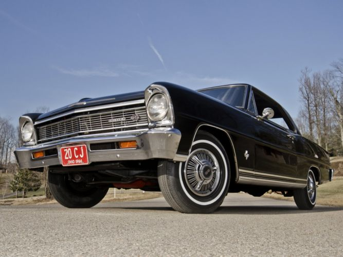 1966 Chevrolet Chevy I-I Nova S-S L79 327 350HP Hardtop Coupe (11837) muscle classic r wallpaper