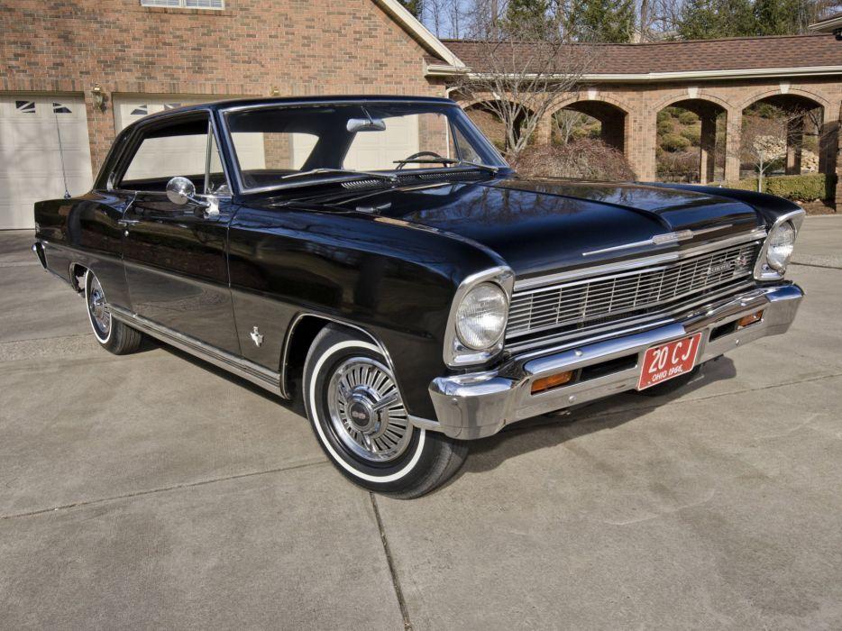1966 Chevrolet Chevy I-I Nova S-S L79 327 350HP Hardtop Coupe (11837) muscle classic  g wallpaper