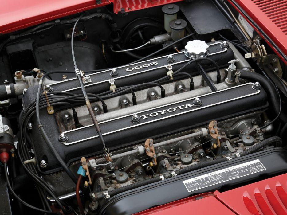1967-70 Toyota 2000GT JP-spec (MF10) supercar classic g-t engine   f wallpaper