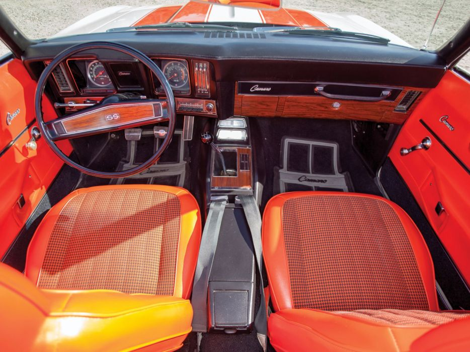 1969 Chevrolet Camaro R-S S-S 350 Z11 Convertible Indy 500 Pace Replica muscle race racing interior g wallpaper