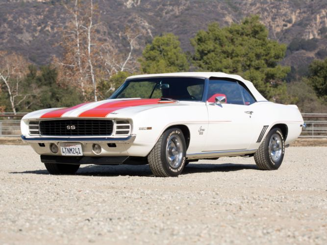 1969 Chevrolet Camaro R-S S-S 350 Z11 Convertible Indy 500 Pace Replica muscle race racing h wallpaper