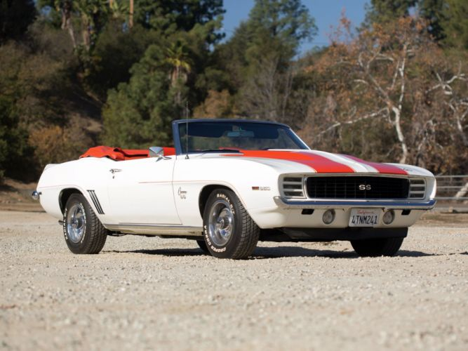 1969 Chevrolet Camaro R-S S-S 350 Z11 Convertible Indy 500 Pace Replica muscle race racing g wallpaper