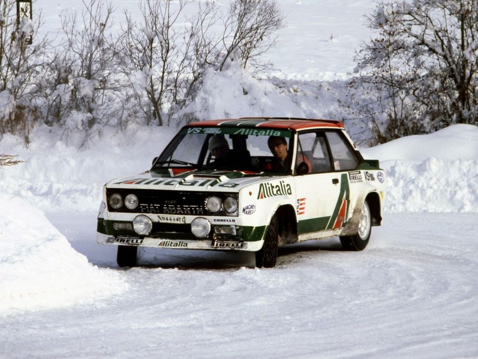 1976-81 Fiat Abarth 131 Rally Corsa race racing classic  g wallpaper