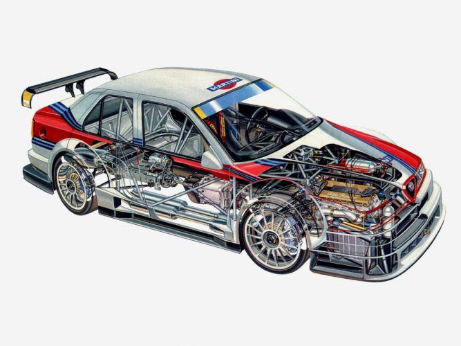 1995 Alfa Romeo 155 V-6 T-I DTM (SE062) race racing interior engine g wallpaper