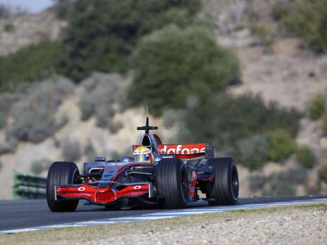 2008 McLaren Mercedes Benz MP4-23 F-1 formula race racing hg wallpaper