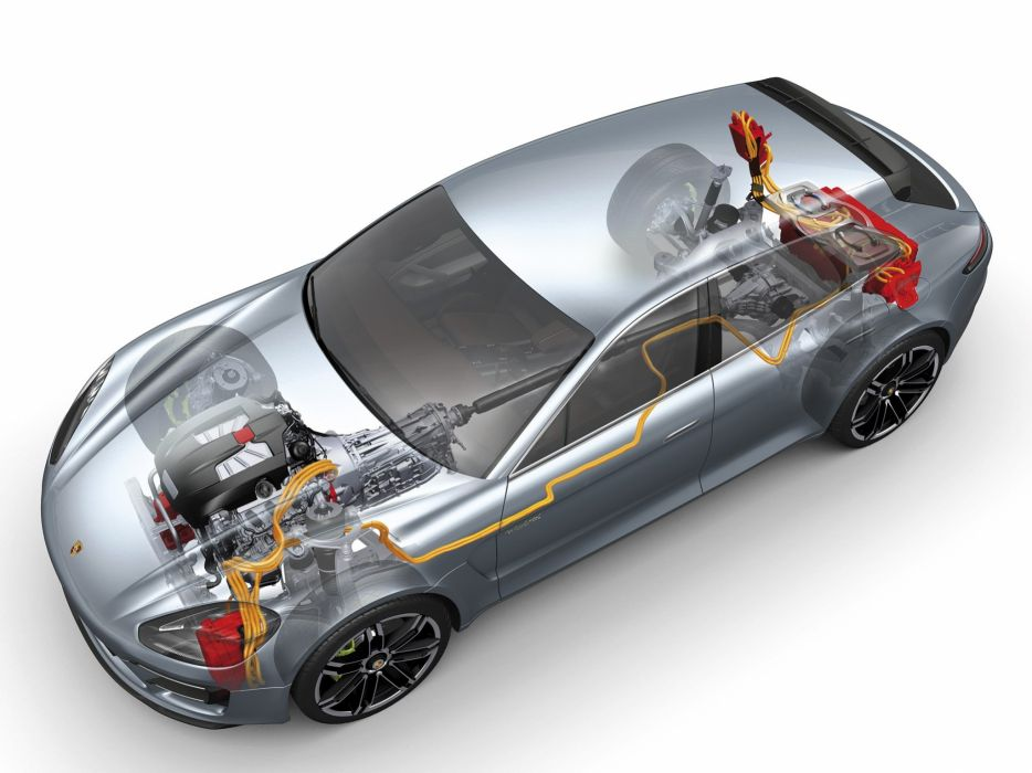 2012 Porsche Panamera Sport Turismo Concept interior engine     g wallpaper