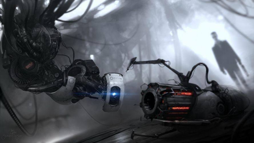 video games Portal Half-Life funny Black Mesa GLaDOS G-Man Half-Life 2 Portal 2 crossovers nitro gravity gun wallpaper