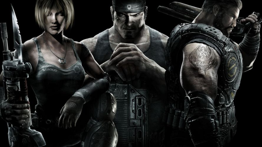 video games Gears of War Dom Santiago Marcus Fenix Anya Stroud wallpaper