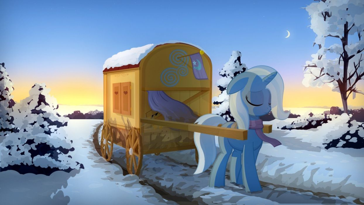 winter ponies The Great and Powerful Trixie My Little Pony: Friendship is Magic wallpaper