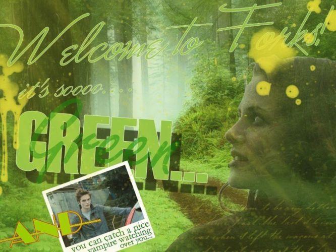 green Kristen Stewart Twilight Robert Pattinson Edward Cullen Bella Swan wallpaper
