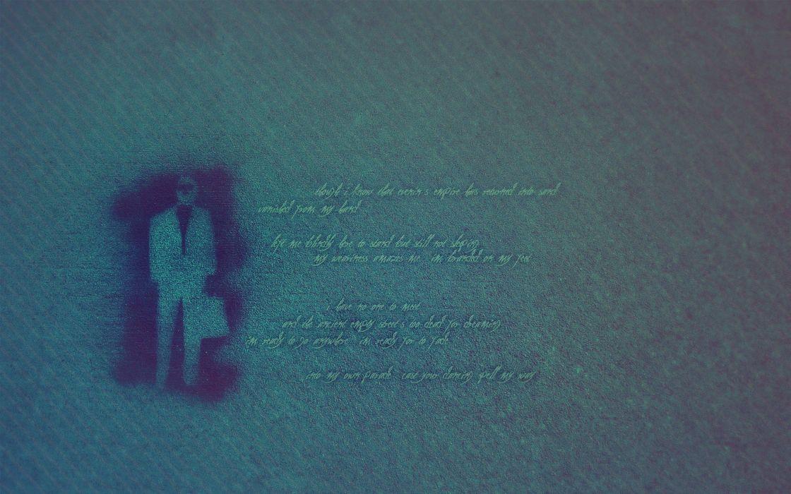 blue text quotes stencil textures wallpaper
