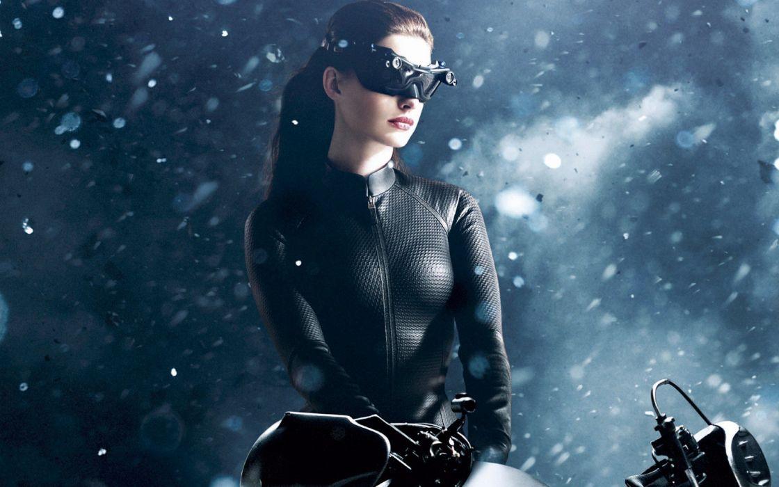 Anne Hathaway movies Catwoman Batman The Dark Knight Rises wallpaper