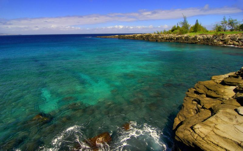 green ocean landscapes nature wildlife rocks shore cliffs skyscapes sea wallpaper