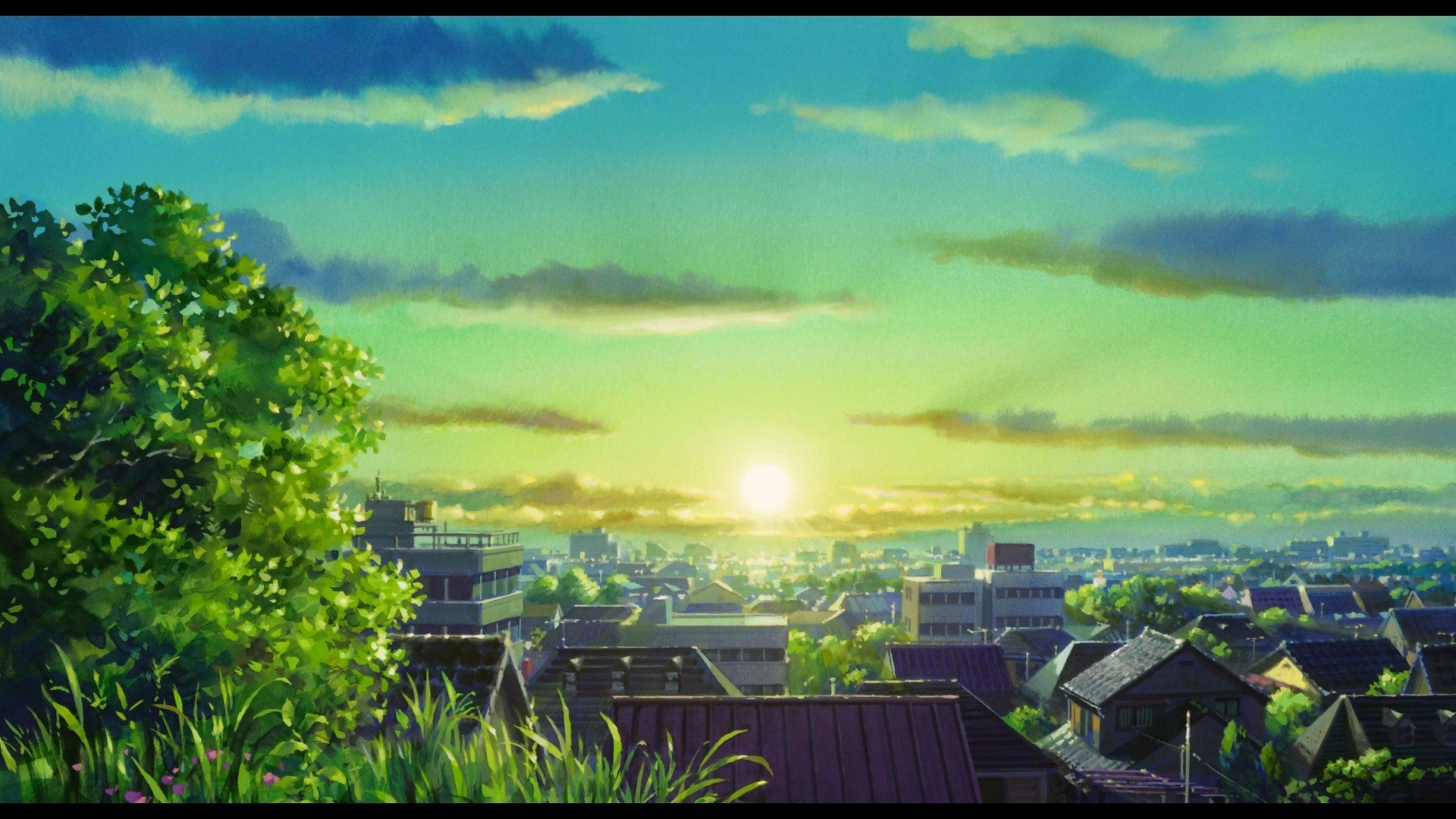 Sun Trees Cityscapes Anime Karigurashi No Arrietty The Secret World Of Arrietty Wallpaper 1920x1080 311410 Wallpaperup