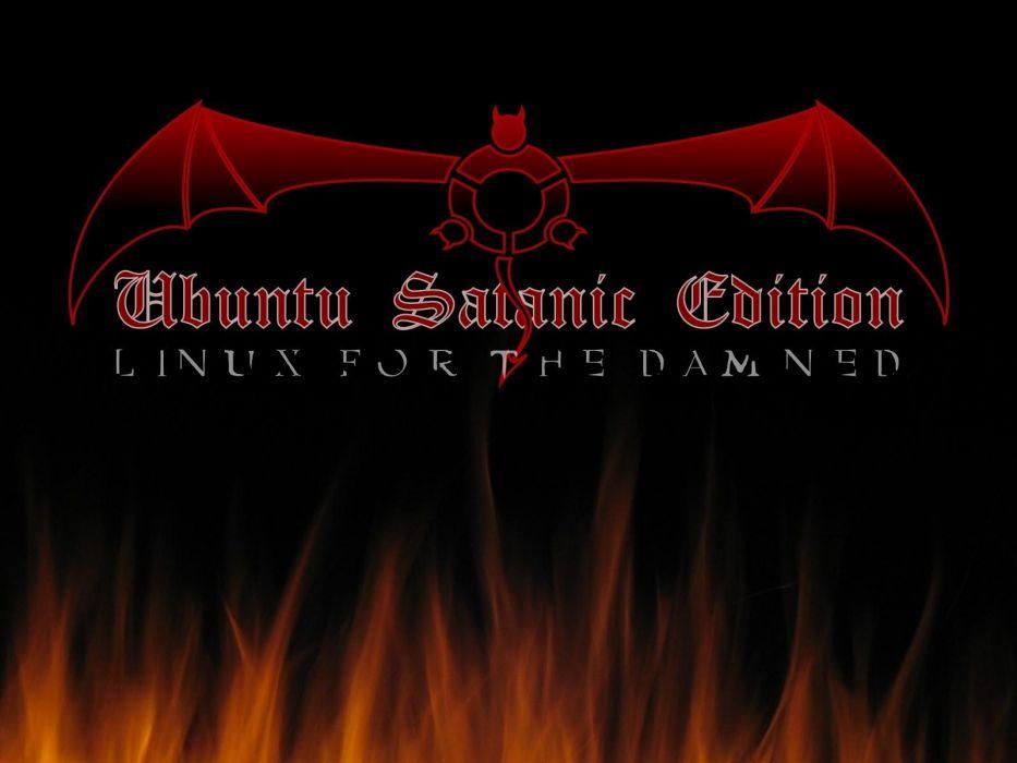 Ubuntu bats satanic wallpaper