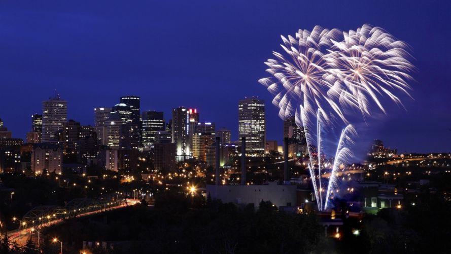 fireworks Canada Alberta Edmonton wallpaper