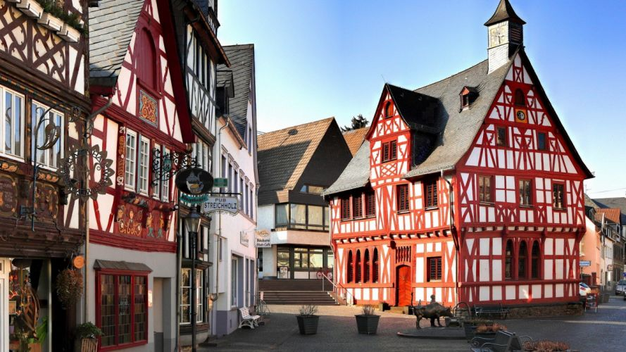 cityscapes Germany architecture towns wallpaper