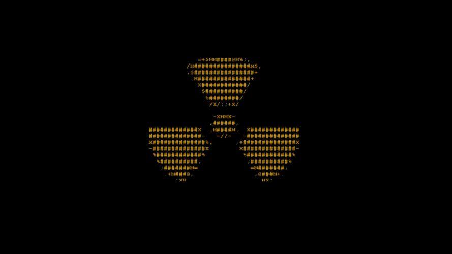 radioactive ascii radiation symbol wallpaper