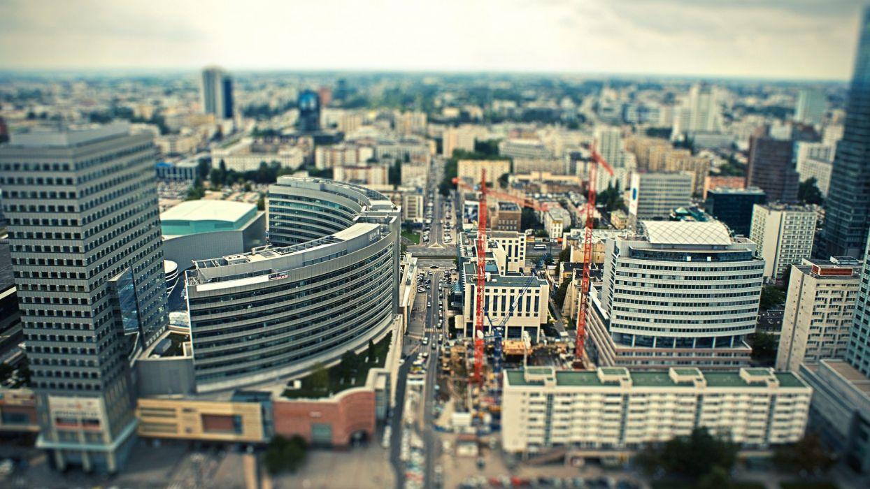 cars architecture tilt-shift citylife wallpaper