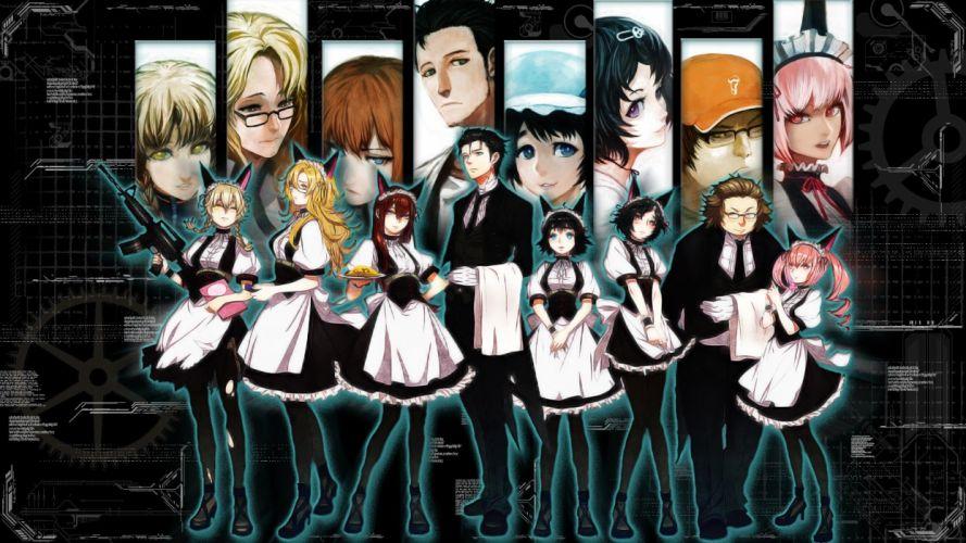 anime Steins;Gate Shiina Mayuri Makise Kurisu Amane Suzuha Kiryuu Moeka Urushibara Ruka Hashida Itaru Okabe Rintarou Akiha Rumiho wallpaper